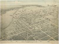 Vintage Pictorial Map of Gainesville Texas (1883)