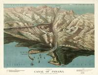 Vintage Pictorial Map of The Panama Canal (1881)