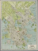 Vintage Map of Helsinki Finland (1920)