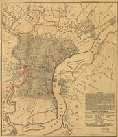 Vintage Map of Philadelphia Pennsylvania (1857)