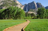 Boardwalk to Yosemite Falls