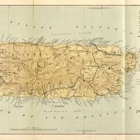 """""""Vintage Map of Puerto Rico (1898)"""" by Alleycatshirts"""