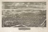Vintage Pictorial Map of Reading PA (1898)