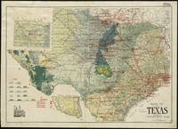 Vintage Map of The Texas Oil and Gas Fields (1920)