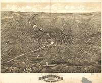Vintage Pictorial Map of Rochester NY (1880)