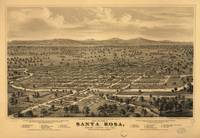 Vintage Pictorial Map of Santa Rosa CA (1876)