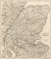 Vintage Map of Scotland (1855)