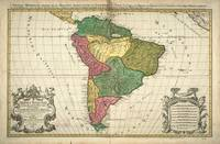 Vintage Map of South America (1691)