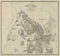 Vintage Map of Tacoma Washington (1907)