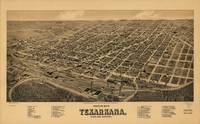 Vintage Pictorial Map of Texarkana (1888)