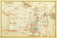 Vintage Map of Thebes Egypt (1894)