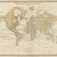 """""""Vintage Map of The World (1775) 4"""" by Alleycatshirts"""