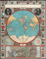 Vintage Map of The World (1913)