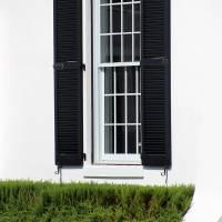 Window and Black Shutters 2016 by Karen Adams