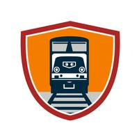 Diesel Train Freight Rail Crest Retro