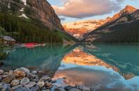 Banff National Park Sunrise Scene Lake Louise Cana