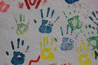 Hand Prints on a Wall