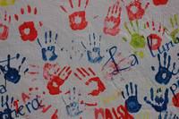 Abstract Hand Prints