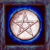 Moon Pentagram - Artwork Red Shining