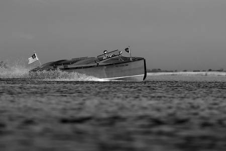 Black & White Series-Wooden Boat 19