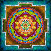"""Intuition Sri Yantra - Artwork 2"" by dcz"
