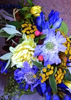 Tropical Bouquet in Blues