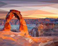 Arches National Park Low-Poly Art