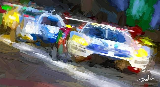 Ford Gt At Lemans By Artbysachse