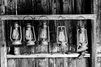 Bodie- Old lanterns in a row
