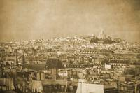 Vintage retro Paris with Sacre Coeur Basilica 4