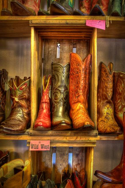 Cowboy Boots at the Wild West Store