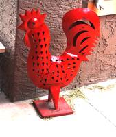 PAINTED RED ROOSTER