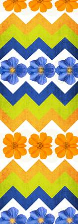 ORL-2119-2 Chevron pattern WITH FLOWERS 80X36