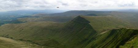 Panoramic view of the Brecon Beacons