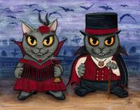 Vampire Cat Couple - Where's The Party?