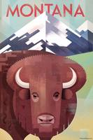 Montana Travel Poster