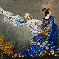 Painted Kimono Art Prints & Posters by Alice Malloy-Chang
