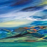 """""""Dancing Sunlight on the Bridgers"""" by allisonmcgreefineart"""