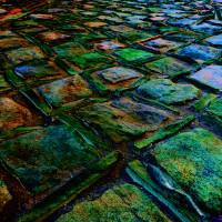 Square Stones Pathway Art Prints & Posters by Mike Solomonson