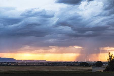 Larimer County Colorado Sunset Thunderstorm