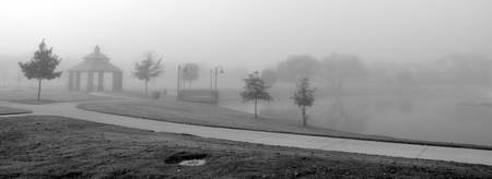 Kimzey Park Fog panoramic 2