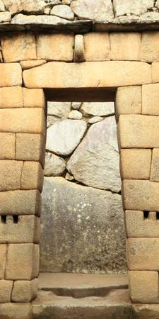 Inca Doorway at Machu Picchu, Peru