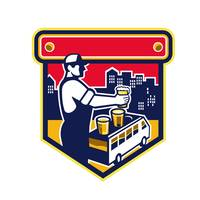 Bartender Beer City Van Crest Retro
