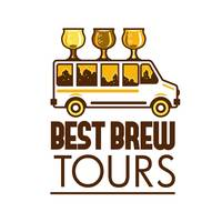 Beer Flight Glass Van Best Brew Tours Retro