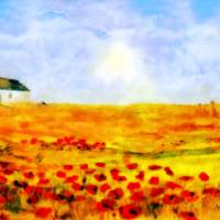 The Poppy picker Art Prints & Posters by Valerie Anne Kelly
