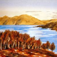 Scottish loch Art Prints & Posters by Valerie Anne Kelly