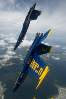 The Blue Angels over Pensacola Beach Credit US Nav