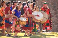 Drummers at the Inti Raymi Inca Festival, Cusco Pe