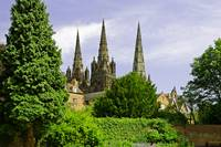 Lichfield Cathedral from the Garden