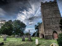 Churchyard with Skyscape